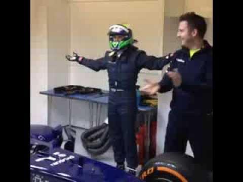 Felipe Massa driver extraction test