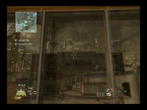 MW2 AMAZING Throwing Knife Across Highrise