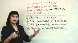 Confused Words - Succeed, Success, Successful, Successfully