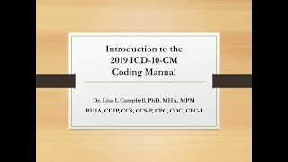 Introduction to the 2019  ICD 10 CM Coding Manual