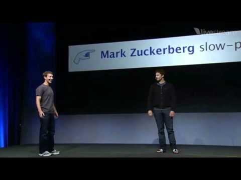 Andy Samberg impersonates Mark Zuckerberg at F8 2011