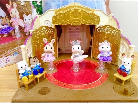 シルバニアファミリー 森のバレエ劇場 / Rotating Stage ! Fancy Sylvanian Families Ballet Theater !