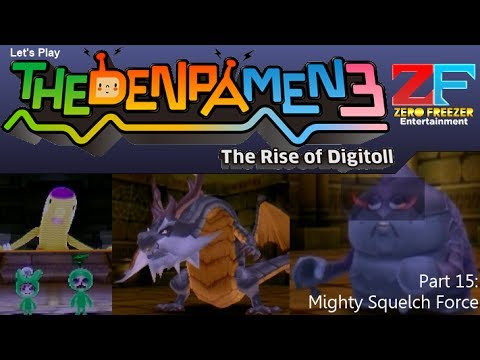 The Denpa Men 3 (3DS) Part 15: Mighty Squelch Force [HD]