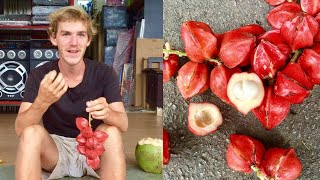 EATING WEIRD TROPICAL FRUIT