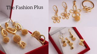 Latest Combo sets Of Gold Pendant | Earring | Ring |Designs