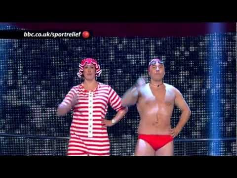 Dancing Queens: David Walliams and Miranda Hart - BBC Sport Relief Night 2012