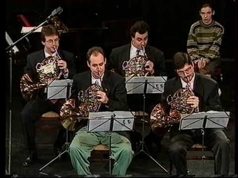 Budapest Festival Horn Quartet   J.S.Bach Fugue in D minor .mpg