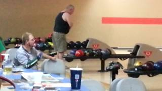 Dude In a Wife Beater Bowling a 299 Game....