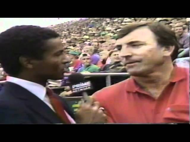 Sideline interview with Dave Wilcox during WSU-Oregon game 9-07-91