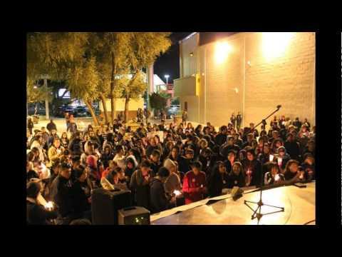 MARCHA DE PROTESTA EN TECATE POR LOS DESAPARECIDOS EN IGUALA GUERRERO