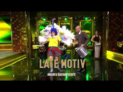 LATE MOTIV - Dani Alves enseña a bailar samba a la niña de Shrek  | #LateMotiv34