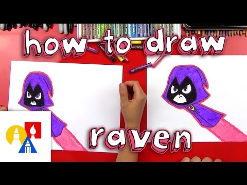How To Draw Raven From Teen Titans Go