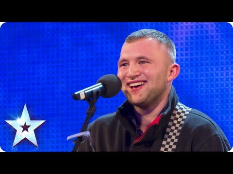 Robbie Kennedy with his acoustic guitar singing 'Iris'- Week 3 Auditions | Britain's Got Talent 2013
