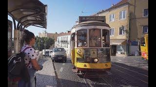 Portugal, Lisbon, tram 28 ride from Miradouro de Santa Luzia to Graça