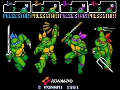 TMNT 4 Turtles in time music - Neon Night-Riders