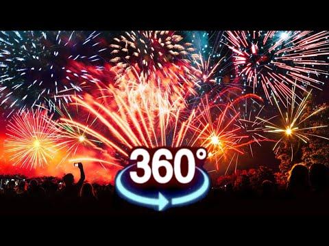 :VR Video 360 Fireworks XXL - Happy New Year 360 degree