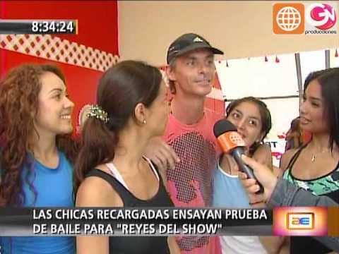 Reyes del Show: Las Chicas Recargadas ensayan para baile grupal (América Espectáculos 03-12-09)
