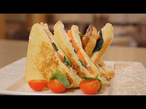 Панини с семгой и сыром. Рецепт от шеф-повара.