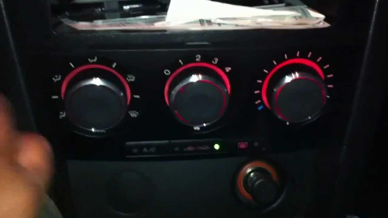 Mazda 3 custom HVAC knob install - YouTube