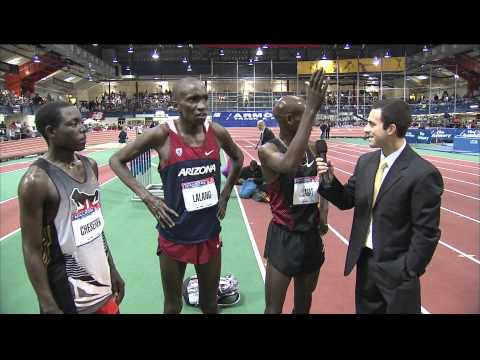 Bernard Lagat, Lawi Lalang, Edward Cheserek Interview - Millrose Games 2012