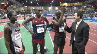 105th Millrose Games - Bernard Lagat Interview with Lalang & Cheserek
