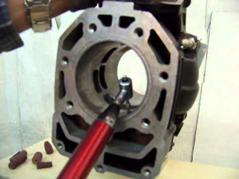 2 Stroke Porting chamfering the port part 1.mpg