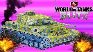 WoT Blitz обзор танк PZ 4D Для новичков В погоню за AMX 12 T немецкая ветка World of Tanks Blitz #29