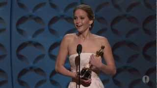Jennifer Lawrence Wins Best Actress: 2013 Oscars