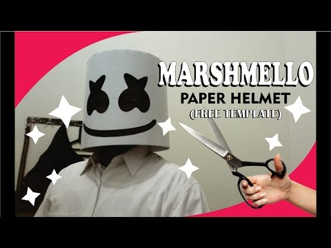 How To Make Marshmello Paper Helmet (free template) by Ganeshandra