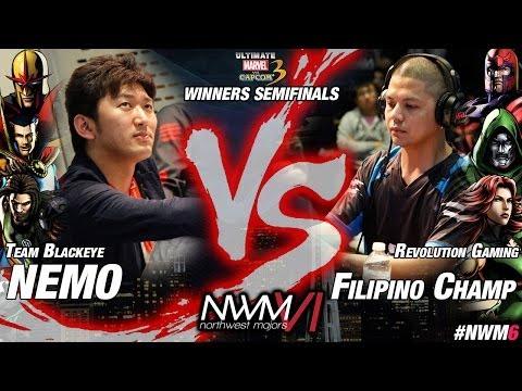 NWM6 UMvC3 Top16 WSF - BE|NEMO (NOV-STR-SPE) vs RG|Filipino Champ (MAG-DOR-DRD)