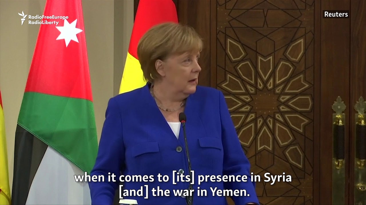 Merkel: Solutions Needed To Deal With 'Iran's Aggressive Tendencies' In Middle East