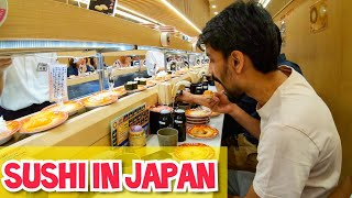 INDIAN TRY SUSHI FOR FIRST TIME IN JAPAN !!! How Expensive is Sushi??