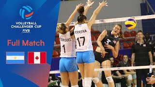 ARGENTINA vs CANADA | Full Match | 2019 FIVB Women's Volleyball Challenger Cup