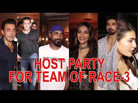 JACQUELINE FERNANDEZ AND SALMAN KHAN HOST PARTY FOR TEAM OF RACE 3 HOST PARTY FOR TEAM OF RACE 3 thumbnail
