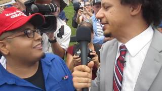 Comedian Eric Andre assaulted by Alex Jones Stooges at Trump Rally
