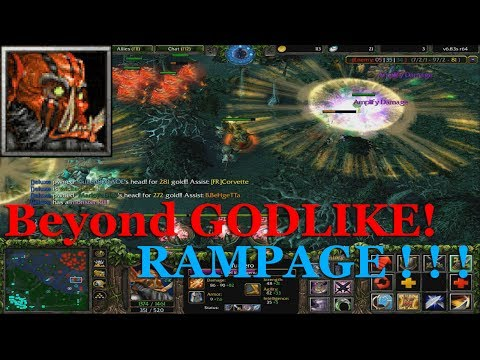 DotA 6.83 - Juggernaut Beyond GODLIKE + RAMPAGE !!!