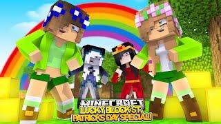ST. PATRICKS DAY LUCKY BLOCK SPECIAL! Minecraft Little Kelly w/Carly,Ramona & Britney