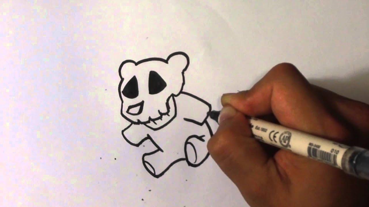 Teddy Bear Head Drawing Drawing a Teddy Bear Skull