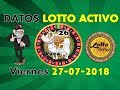 Lotto Activo Datos Fijos 27 07 2018 Tio Ruletero mp3
