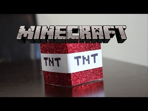 Minecraft TNT Candle DIY GG