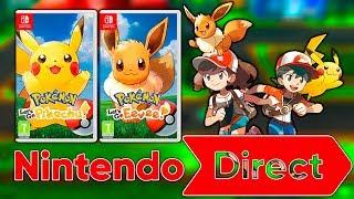 Nintendo Direct E3 2018 | ¿Pokémon Let´s GO Pikachu y Let´s GO Eevee?