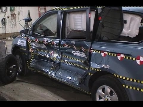 2006 Kia Sedona | Краш-тест, боковой удар