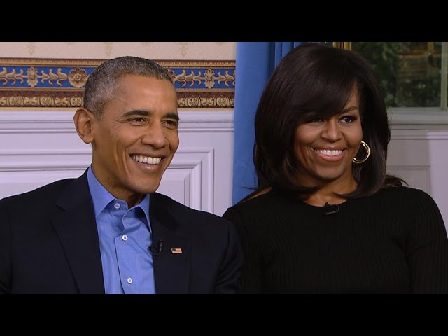 President and Mrs. Obama on last Super Bowl in White House