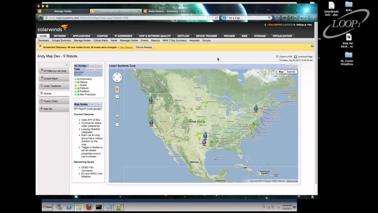 Solarwinds Google Maps Integration Loop1 Systems Youtube