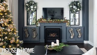 A Beautiful Family Home Decorated For Christmas