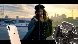 iPhone XS Max vs Hollywood Movie Cameras Red & Arri