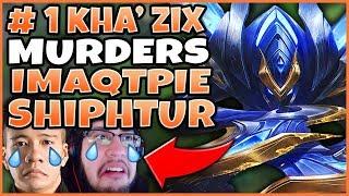 RANK 1 KHA'ZIX MURDERS IMAQTPIE AND SHIPHTUR IN CHALLENGER! (KHA'ZIX JUNGLE) - League of Legends