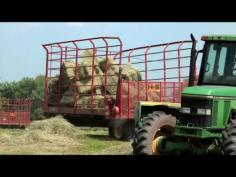 Rolling Oaks Farm - Hay Baling on June 19, 2013