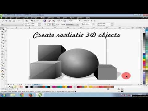 how to make 3d effects in coreldraw x6