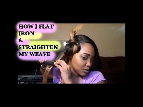 How I Flat Iron & Straighten My Weave